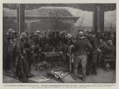 The Allied Troops in Peking, an Auction Sale of Loot-Joseph Nash-Giclee Print