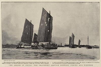 The Allies in China, the Transport Service Between Peking and Tientsin-Charles Edward Dixon-Giclee Print