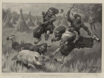 The Allies in China, Zouaves Chasing their Dinner at Shan-Hai-Quan-William T^ Maud-Giclee Print