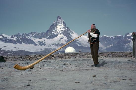 The Alpenhorn at Gonergat-Unknown-Photographic Print