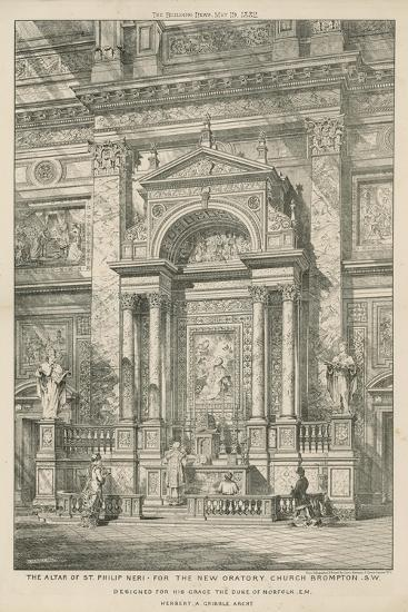 The Altar of St Philip Neri for the New Oratory Church--Giclee Print