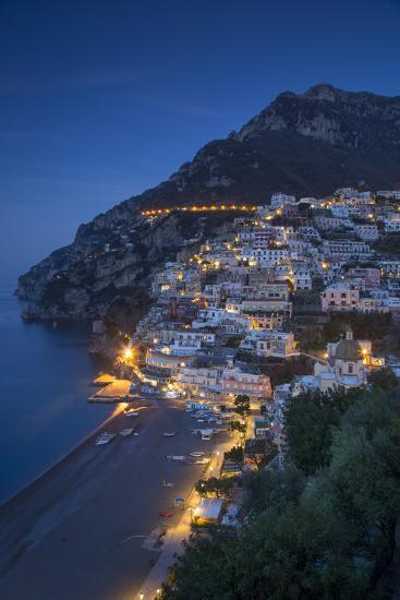 The Amalfi Coast of the Hillside Town of Positano, Campania, Italy-Brian Jannsen-Photographic Print