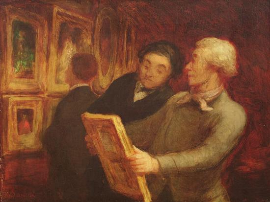 The Amateur Painter-Honore Daumier-Giclee Print