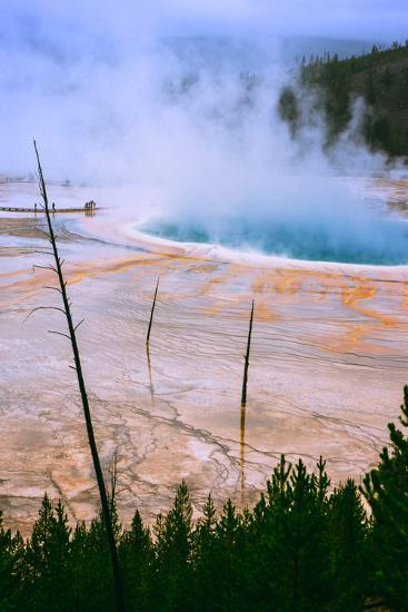 The Amazing Grand Prismatic Spring, Yellowstone National Park-Vincent James-Photographic Print