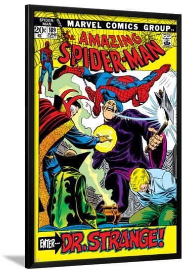 The Amazing Spider-Man No.109 Cover: Spider-Man, Dr. Strange, and Flash Thompson--Lamina Framed Poster