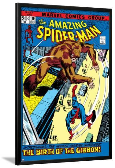 The Amazing Spider-Man No.110 Cover: Spider-Man and Gibbon--Lamina Framed Poster