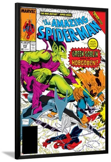 The Amazing Spider-Man No.312 Cover: Spider-Man, Green Goblin and Hobgoblin-Todd McFarlane-Lamina Framed Poster