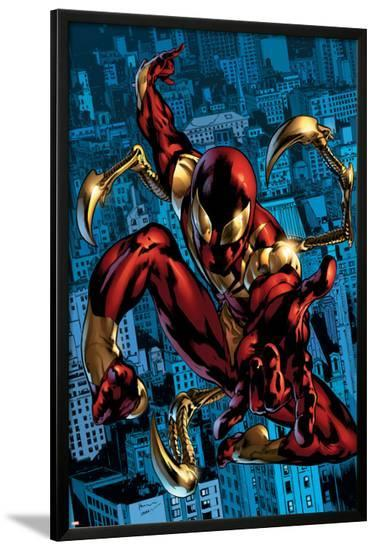 The Amazing Spider-Man No.529 Cover: Spider-Man-Ron Garney-Lamina Framed Poster