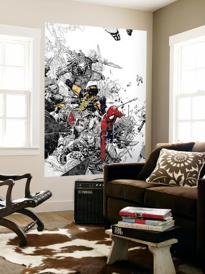 The Amazing Spider-Man No.555 Cover: Spider-Man and Wolverine-Chris Bachalo-Wall Mural