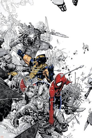 The Amazing Spider-Man No.555 Cover: Spider-Man and Wolverine-Chris Bachalo-Poster