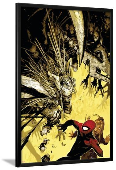 The Amazing Spider-Man No.557 Cover: Spider-Man-Chris Bachalo-Lamina Framed Poster