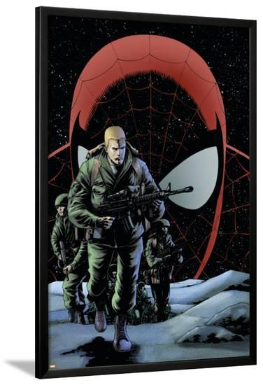The Amazing Spider-Man No.574 Cover: Flash Thompson-Barry Kitson-Lamina Framed Poster