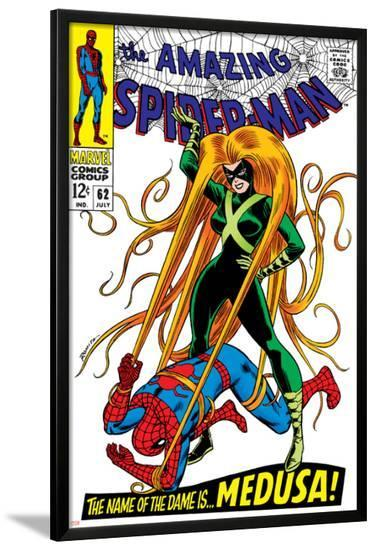 The Amazing Spider-Man No.62 Cover: Spider-Man and Medusa Fighting--Lamina Framed Poster