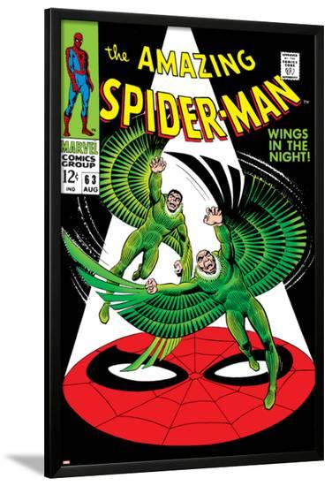 The Amazing Spider-Man No.63 Cover: Vulture Flying--Lamina Framed Poster