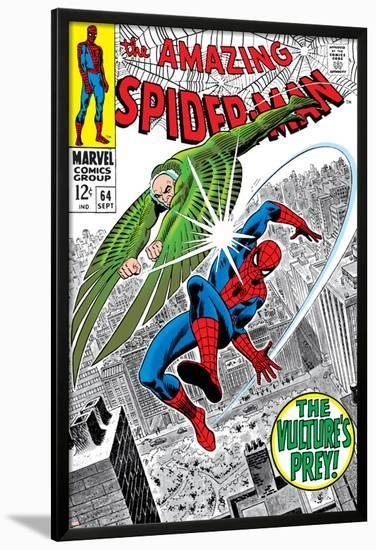 The Amazing Spider-Man No.64 Cover: Vulture and Spider-Man Fighting-Don Heck-Lamina Framed Poster