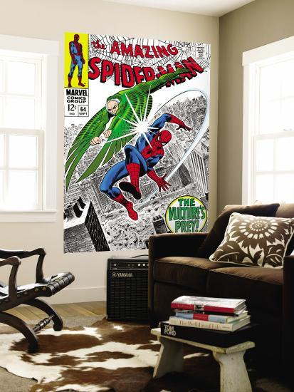 The Amazing Spider-Man No.64 Cover: Vulture and Spider-Man Fighting-Don Heck-Wall Mural