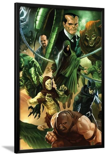 The Amazing Spider-Man No.647 Cover: Juggernaut and Doctor Octopus Posing-Marko Djurdjevic-Lamina Framed Poster