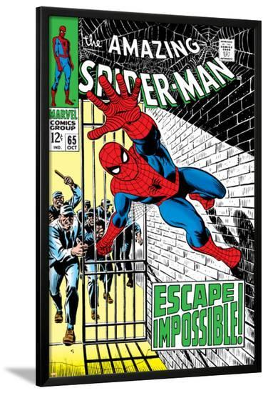 The Amazing Spider-Man No.65 Cover: Spider-Man Charging--Lamina Framed Poster
