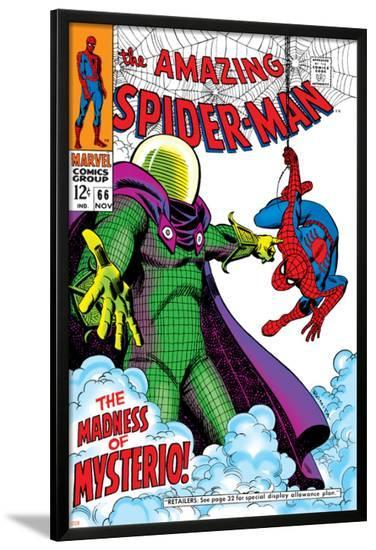 The Amazing Spider-Man No.66 Cover: Mysterio and Spider-Man Fighting--Lamina Framed Poster