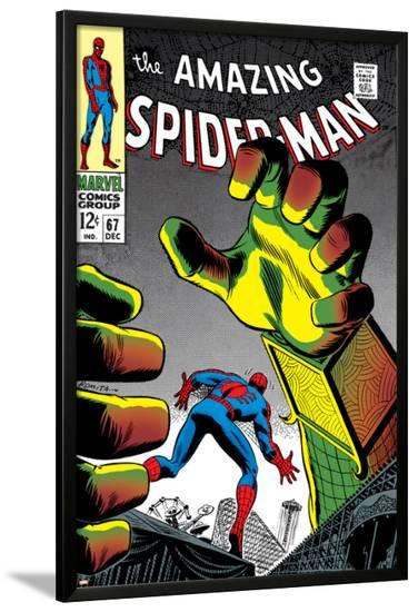 The Amazing Spider-Man No.67 Cover: Mysterio and Spider-Man--Lamina Framed Poster