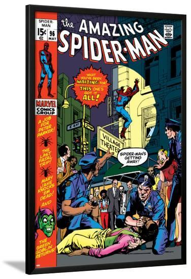 The Amazing Spider-Man No.96 Cover: Spider-Man-Gil Kane-Lamina Framed Poster