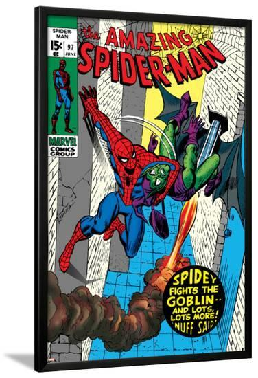 The Amazing Spider-Man No.97 Cover: Spider-Man and Green Goblin-Gil Kane-Lamina Framed Poster