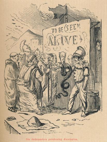 'The Ambassadors purchasing Aesculaplus', 1852-John Leech-Giclee Print