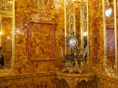 The Amber Room in the Catherine Palace in Tsarskoye Selo-Keenpress-Photographic Print