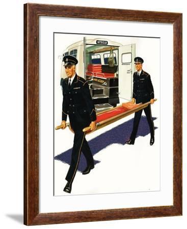 The Ambulance Service--Framed Giclee Print