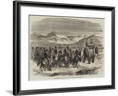 The Ameer of Cabool on His Way to Peshawur--Framed Giclee Print