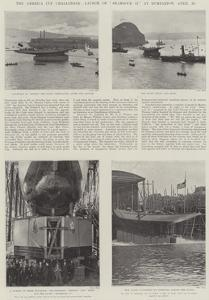 The America Cup Challenger, Launch of Shamrock II at Dumbarton, 20 April