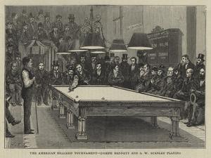 The American Billiard Tournament, Joseph Bennett and S W Stanley Playing
