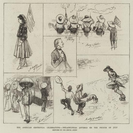 The American Centennial Celebrations, Philadelphian Jottings on the Fourth of Jury--Giclee Print