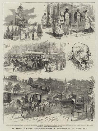 The American Centennial Celebrations, Sketches at Philadelphia--Giclee Print
