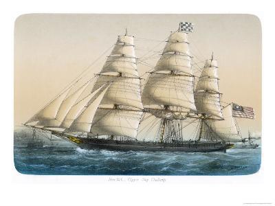 "The American Clipper Ship ""Challenge"" of New York- Lebreton-Giclee Print"