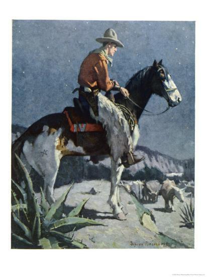 The American Cowboy-Sidney Riesenberg-Giclee Print