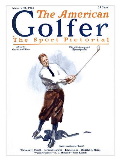 The American Golfer February 21, 1925-James Montgomery Flagg-Premium Giclee Print