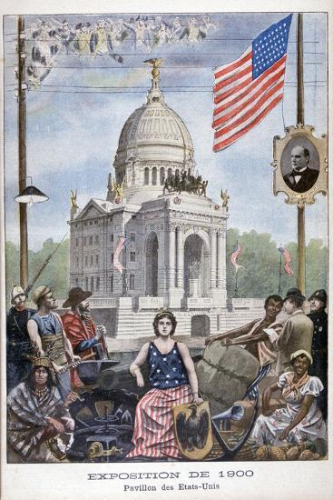The American Pavilion at the Universal Exhibition of 1900, Paris, 1900--Giclee Print