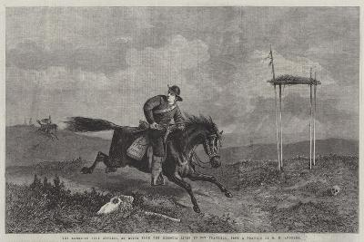 The American Pony Express, En Route from the Missouri River to San Francisco-George Henry Andrews-Giclee Print