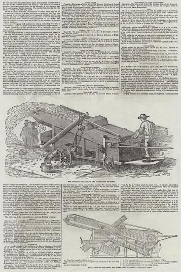 The American Thrashing and Separating Machine--Giclee Print