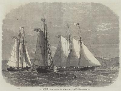 The American Yachts Saluting Her Majesty Off Osborne House-Edwin Weedon-Giclee Print