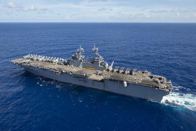 The Amphibious Assault Ship USS Boxer Transits the Pacific Ocean--Photographic Print