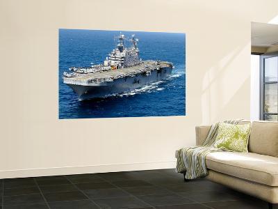The Amphibious Assault Ship Uss Peleliu in Transit in the Pacific Ocean-Stocktrek Images-Giant Art Print