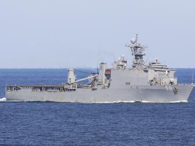 The Amphibious Dock Landing Ship USS Carter Hall-Stocktrek Images-Photographic Print