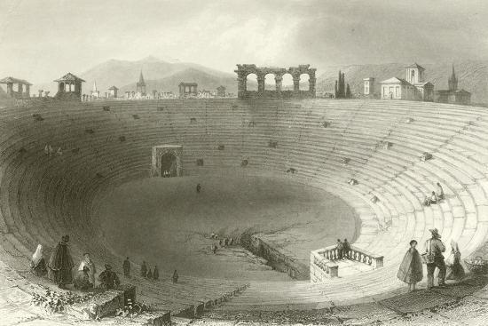 The Amphitheatre, Verona-William Henry Bartlett-Giclee Print