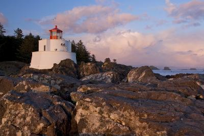 The Amphitrite Lighthouse on the Wild Pacific Trail at Sunset-Paul Colangelo-Photographic Print