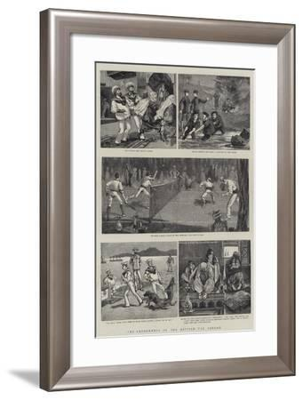 The Amusements of the British Tar Abroad--Framed Giclee Print
