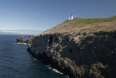 The Anacapa Lighthouse on Anacapa Island in Channel Islands National Park-Phil Schermeister-Photographic Print