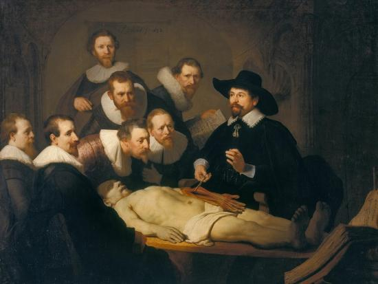 The Anatomy Lesson Of Dr Nicolaes Tulp 1632 Giclee Print By