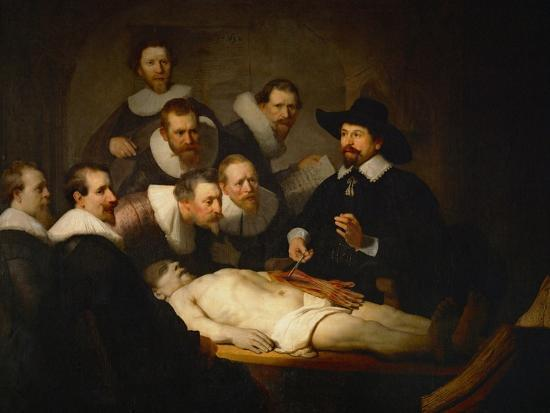 The Anatomy Lesson of Dr. Nicolaes Tulp-Rembrandt van Rijn-Giclee Print